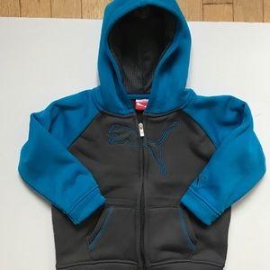 Kids puma zippered hoodie